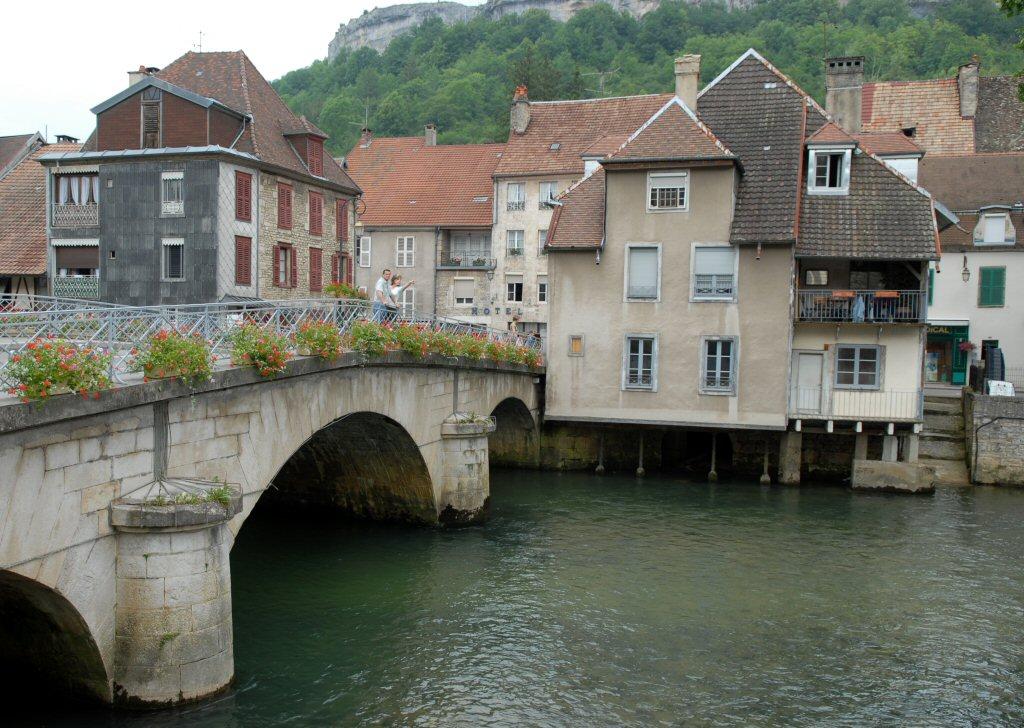 Ornans bridge over River Loue