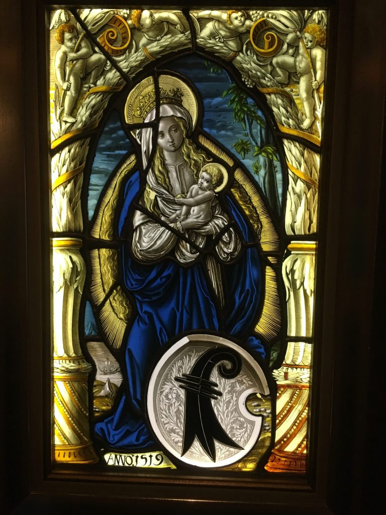 Stained glass window in the Monastery/Hospice museum