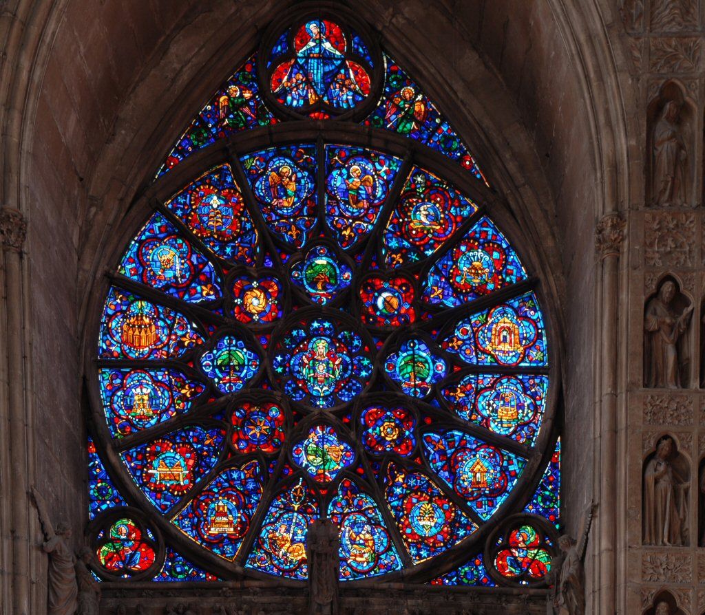 Rose window Reims cathedral