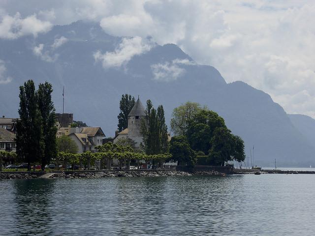 The shores of Lake Genva from the steamer, La Tour-de-Peilz