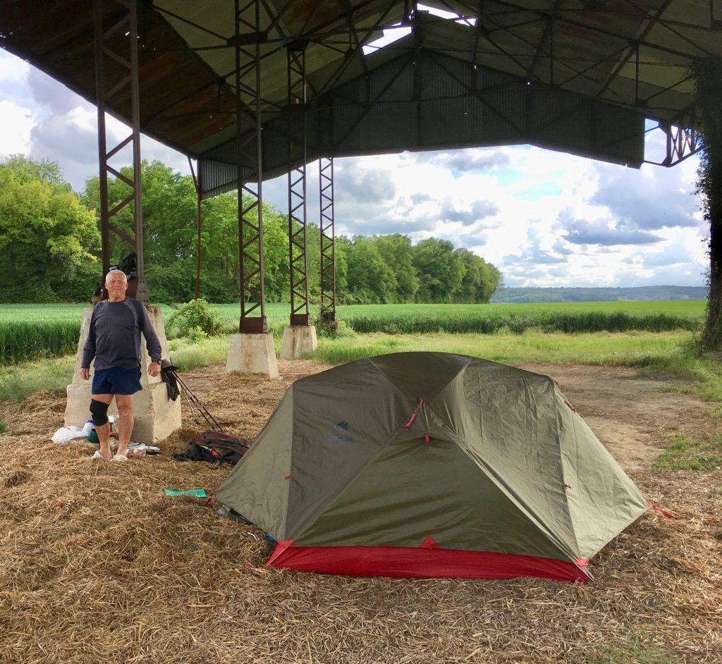 Perfect campsite near Pontavert