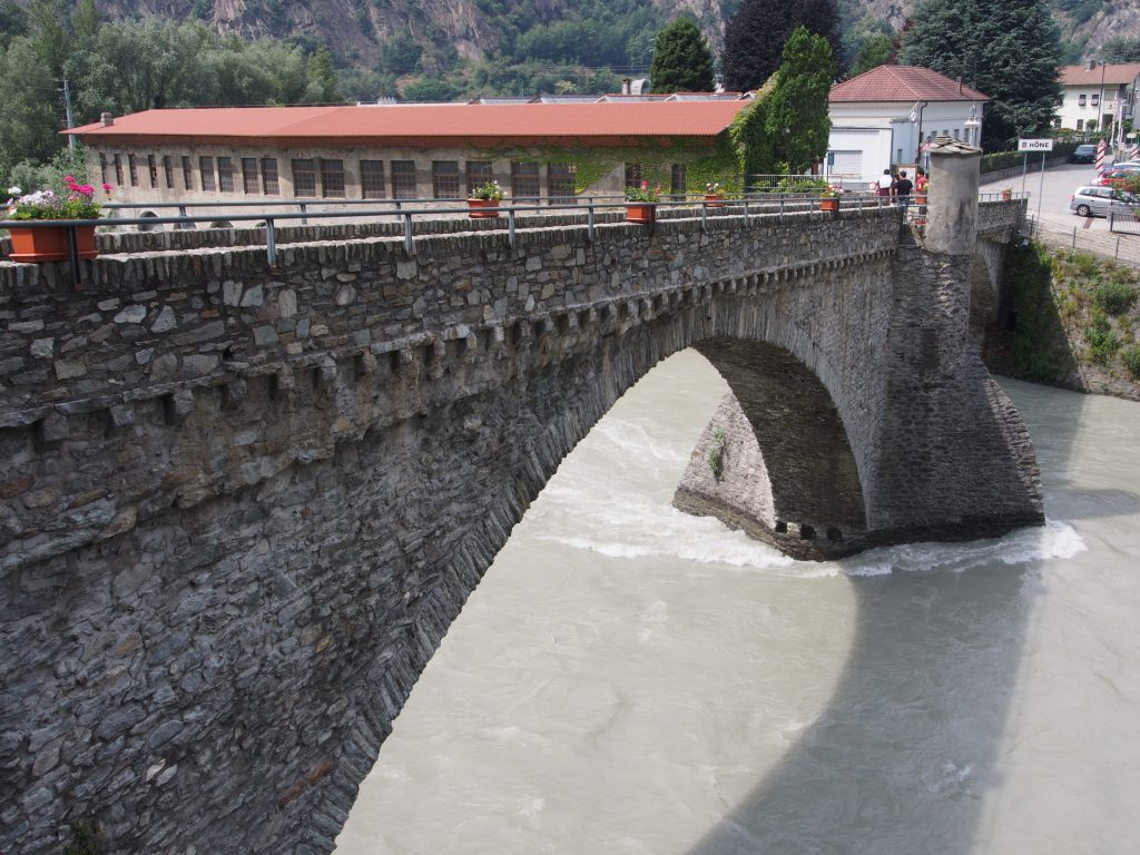 Bridge by Bard Castle, Aosta Valley