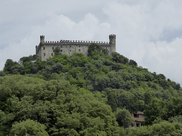 Approaching Ivrea, Castello do Montalto near Lago Pistono