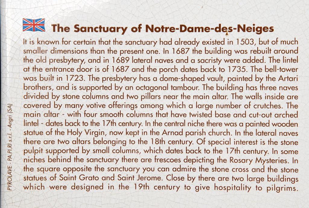 Notre Dame des Neiges near Machaby