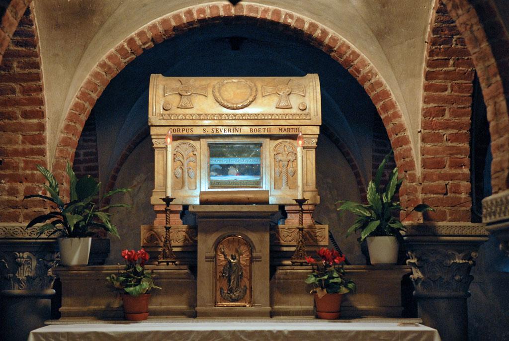 Shrine St Boethius Pavia, San Pietro in Ciel d'Oro
