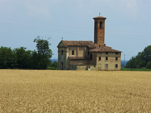 Wheat fields without mosquitos!. The architecture transforms and towers start to appear on many buildings.