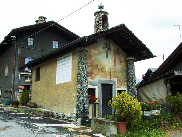 A small chapel on one of the villages of the Aosta Valley