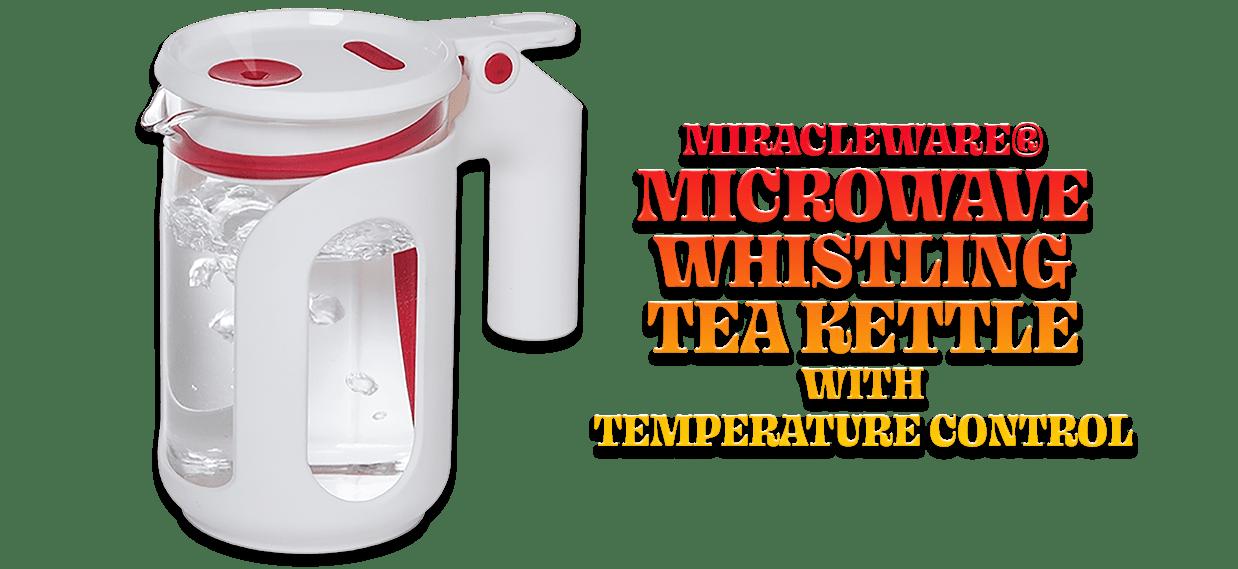 miracleware microwave whistling tea kettle 25oz