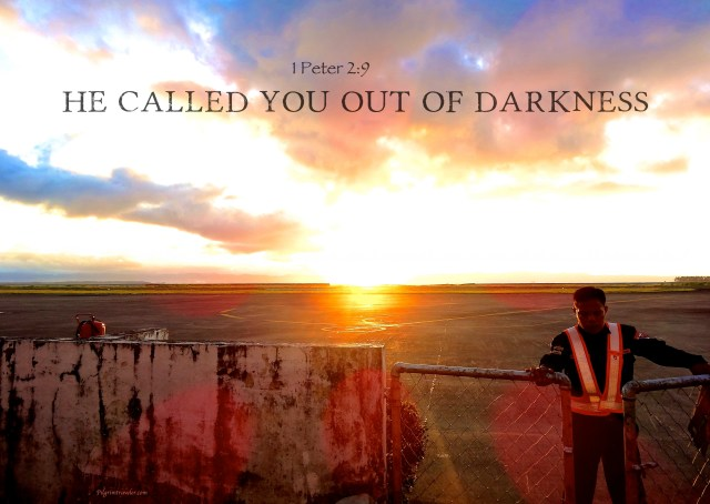 """1 Peter 2:9 """"But ye are a chosen generation, a royal priesthood, an holy nation, a peculiar people; that ye should shew forth the praises of him who hath called you out of darkness into his marvelous light."""""""