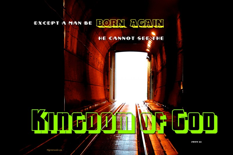 """John 3:3 """"Except a man be born again, he cannot see the kingdom of God."""""""