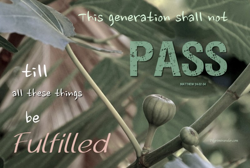 """Matthew 24:32-34 """"This generation shall not pass, till all these things be fulfilled."""""""