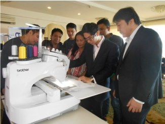 Brother Philippines Embroidery Machine Training