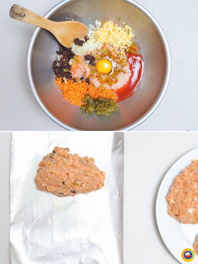 Chicken Embutido Preparation