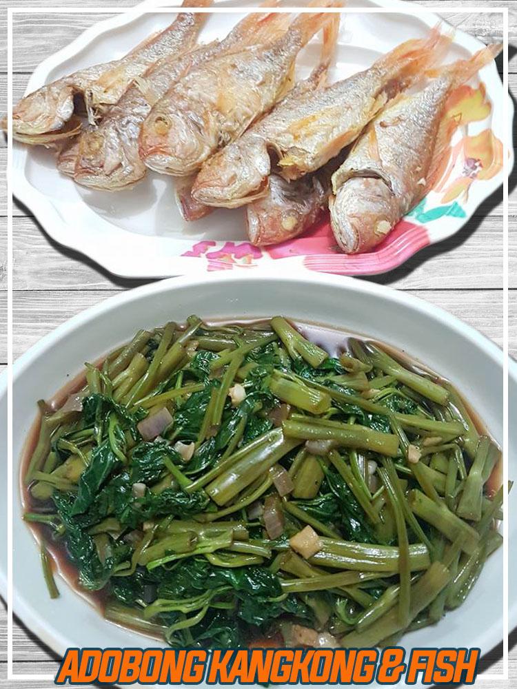 Adobong Kangkong with Chicken