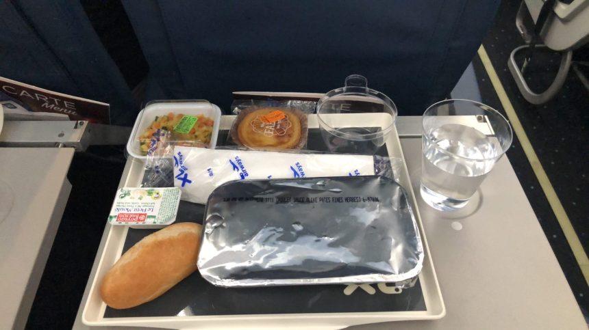 Le repas servi durant notre vol !