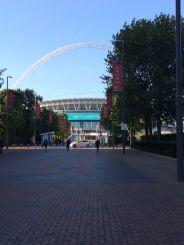 Stadium view from hotel