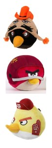 Plush Angry Birds with your favorite college teams