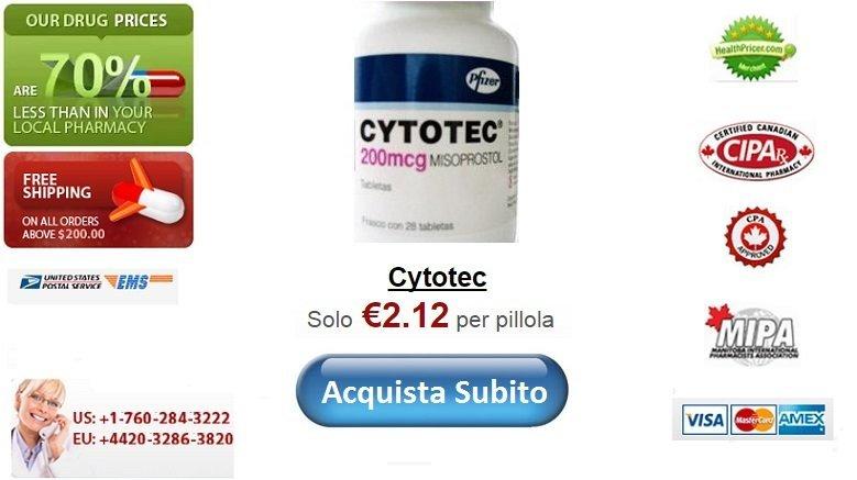 Acquistare Cytotec senza ricetta online