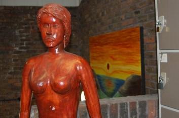 orange statue
