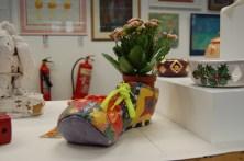 clown shoe pottery art