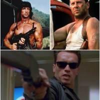 Attori dei film d'azione: i duri di ieri contro quelli di oggi