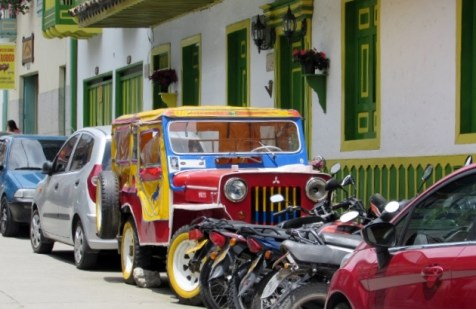 Typical jeep of Salento, Colombia