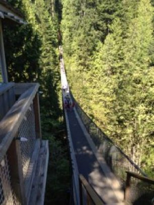 The original Capilano Suspension Bridge