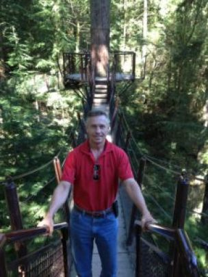 Todd at Capilano Suspension Bridge Park