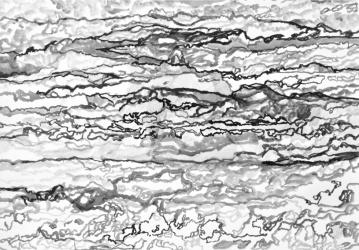 3 SAO 4 (series: 3 Sekunden Atlantischer Ozean) I 2015 I Ink on paper I 42 x 59,5 cm I Photo © S. Blaasekunden Atlantischer Ozean 44
