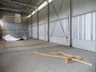 Das Versteck I 2013 I installation   polystyrene, timber I variable dimensions