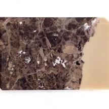 Attilio Tono: MW14, 2016, Emperador dark marble, bees wax, 30 × 48 × 2,5 cm