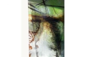 CARLA MERCEDES HIHN: casoeira, 2018, Mixed technique on glass, 200 × 100 cm © Carla Mercedes Hihn