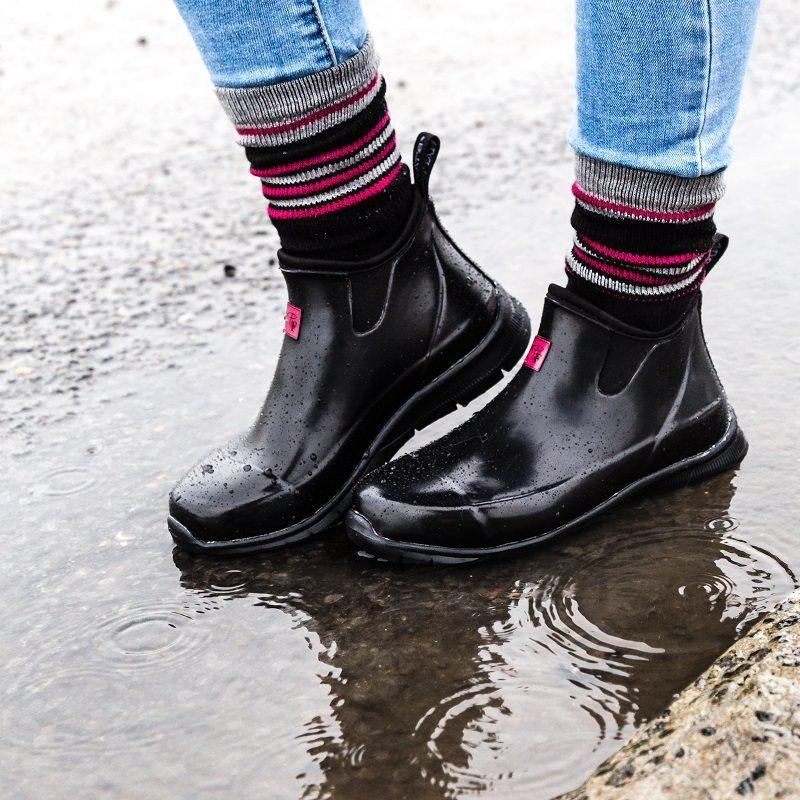 Bottillon de pluie en néoprène et caoutchouc Pilote et Filles   Women rain anckle boots