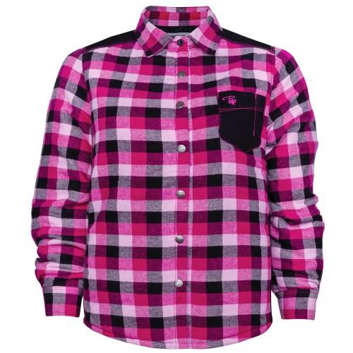 Chemise à carreaux rembourrée taille plus femme