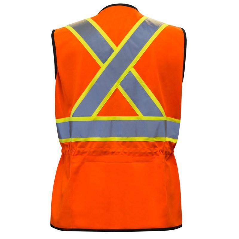 Veste de sécurité haute visibilité pour femme de couleur orange