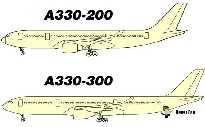 Аэробус-А330-300-А330-200 сравнение