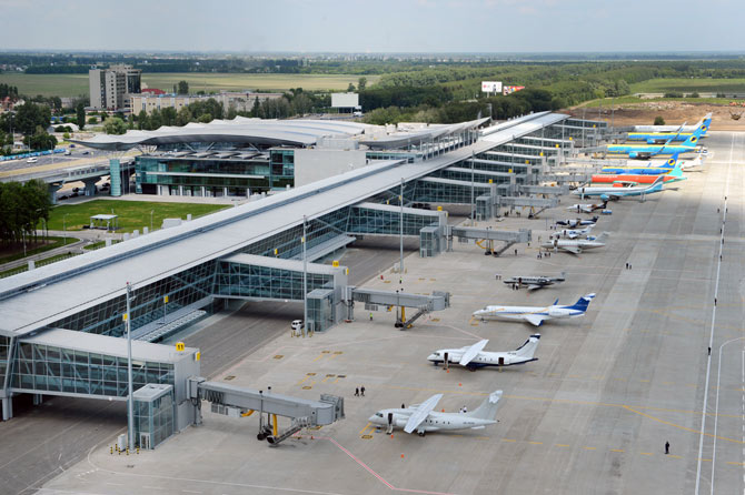 Аэропорт Борисполь вид сверху