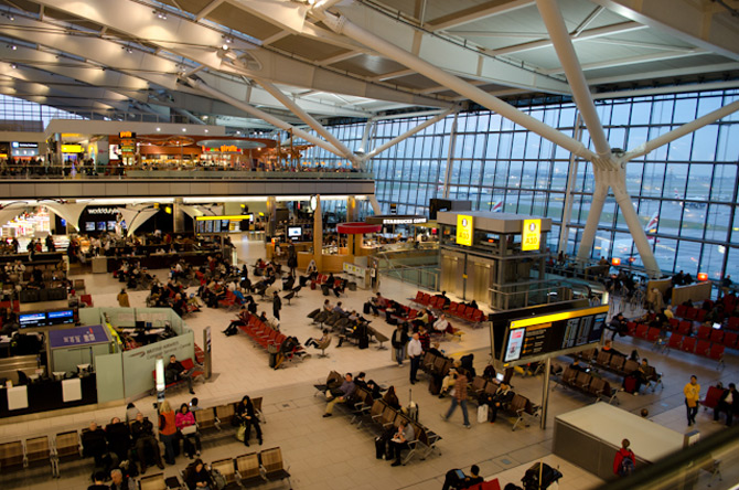 Аэропорт Хитроу внутри