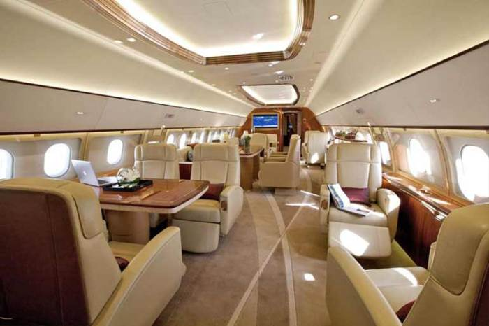 Airbus319CJ inside