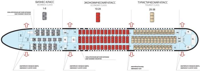 Пегас Флай Боинг 767 схема салона