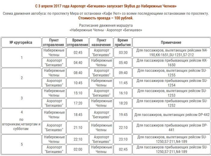 Расписание Автобусов аэропорт Бегишево