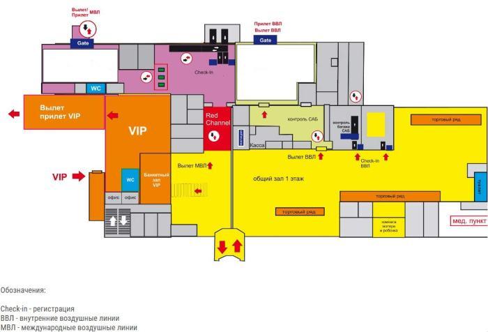 Схема аэропорта Бегишево