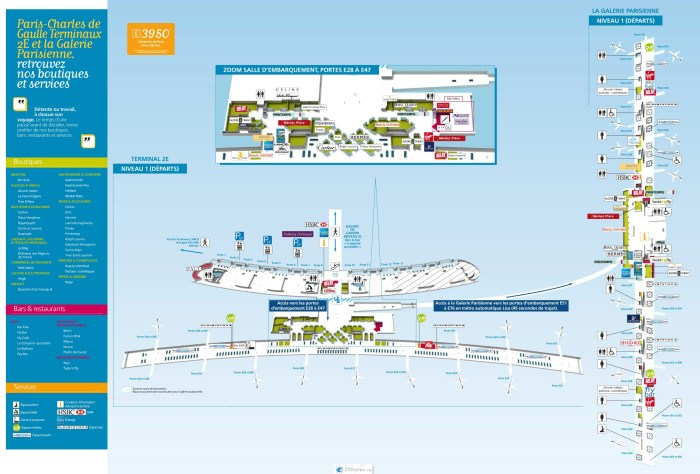 Схема терминала 2e Шарль-де-Голль