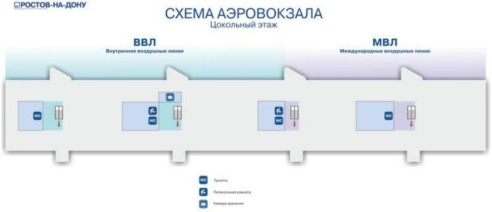 Схема цоколь аэропорта Ростов на дону