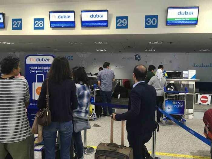 Стойки регистрации компании Флай Дубаи