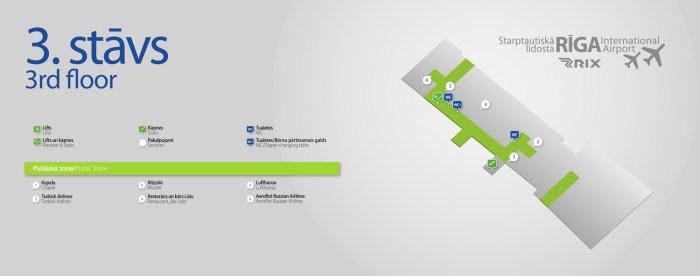 Аэропорт Рига схема 3 уровень