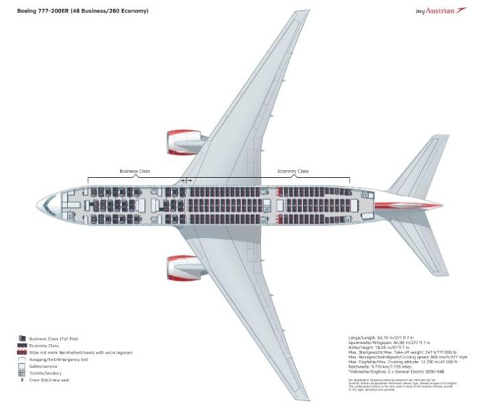Боинг 777 схема салона