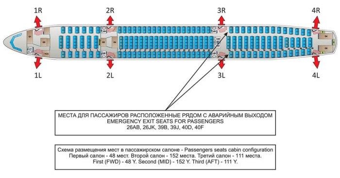 Схема салона Ай Флай Airbus A330-243 EI-FNX/EI-FSE/EI-FSF