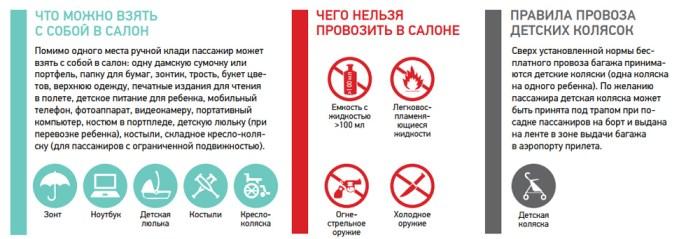Новые правила провоза багажа Ред Вингс