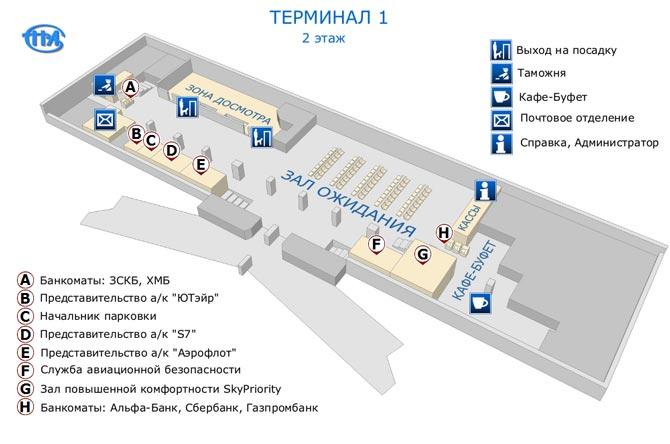 Терминал 1 второй этаж